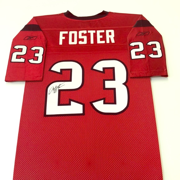 competitive price 86630 4f9e6 Autographed Arian Foster Texans Jersey Battle Red